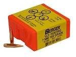 7mm 168 Grain BERGER Match VLD Hunting Bullets (100)