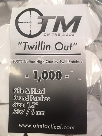 Round Twill Patches .257/6mm