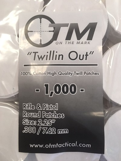 Round Twill Patches .308/7.62mm